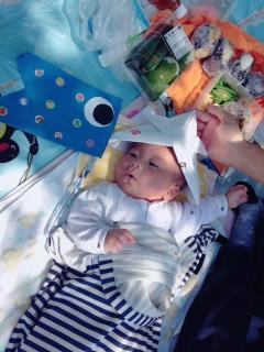 クライアントの広報の方の赤ちゃんです。初節句の兜がとてもかわいい!